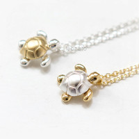 Sea Turtle Necklace / Choose your color / gold and silver