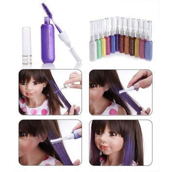 Multicolor Hair Color Hair Dye Color Easy Temporary Non-toxic DIY Hair Mascara Color Hair Cream Color Crayon
