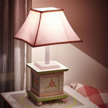 Fantasy Fields - Crackled Rose Table Lamp