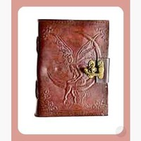 Fairy Moon Leather Journal with Latch