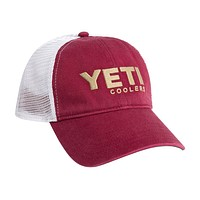 Washed Low-Pro Trucker Hat in Garnet and Gold by YETI
