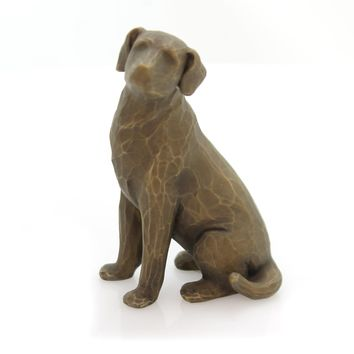 Willow Tree Love My Dog (Dark) Figurine
