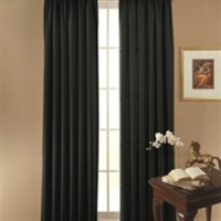 College Blackout Curtain - Sunblock Drape (Black) Block Sunlight Darkness Sleeping Nap Dorm Living