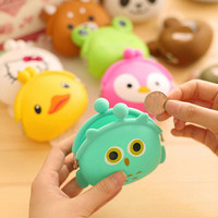 Women Girl Wallet Cartoon Animal Jelly Silicone Coin Purse Kid Gift