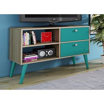 Practical Dalarna TV Stand with 2 Open Shelves and 2- Drawers