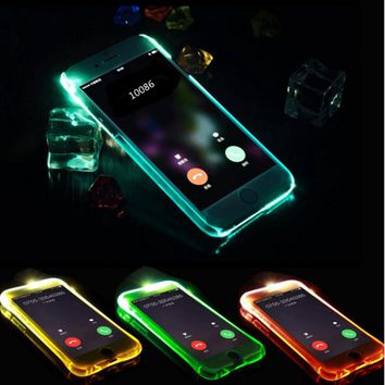 Case for iPhone 5 LED Light Flash Cover for iPhone 5s Silicone Candy TPU Shell Gel Coque Etui for iPhone SE 5se 6 6s 7 Plus Capa
