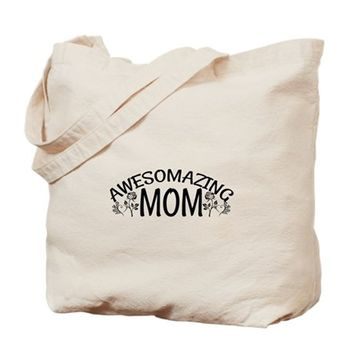 AWESOME AND AMAZING MOM TOTE BAG