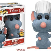 Disney Pixar's CHASE FLOCKED Remy Ratatouille Funko Pop! Vinyl Figure #270
