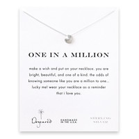 Dogeared, One in a Million Sand Dollar Necklace, Sterling Silver 16 inch
