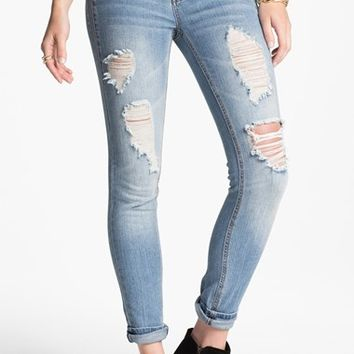 Fire Destroyed Skinny Jeans (Vo