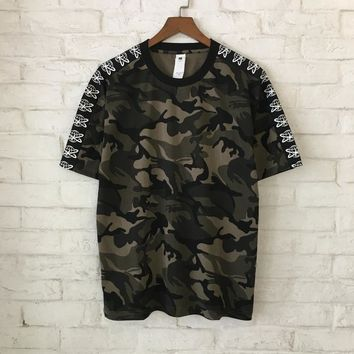 YouthCodes Punk Camouflage T Shirts Men Women Kanye West Pablo Military Camo Pilot Loose Hip Hop Oversized Army T Shirt 2018SS