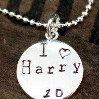 I Love Harry Styles Necklace One Direction Pendant