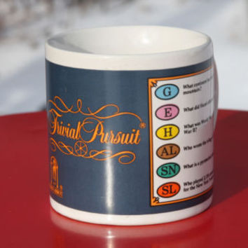 Trivial Pursuit Game Vintage Coffee Mug Great American Housewares