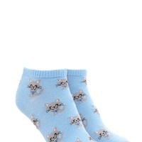 Cat Print Ankle Socks