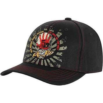 Five Finger Death Punch Men's Ninja Baseball Cap Fitted Black