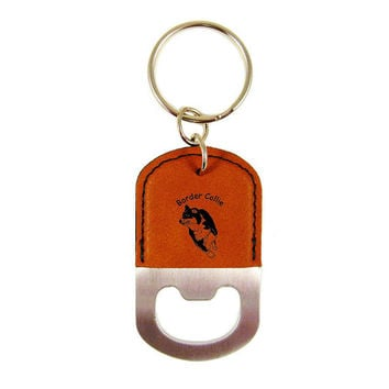 Border Collie Herding 1 Bottle Opener Keychain K1845 - Free Shipping