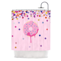 "KESS Original ""Sprinkles"" Pink Food Shower Curtain"