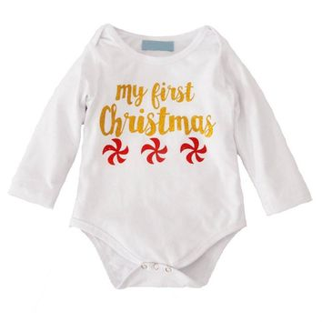 3 Pcs My First Christmas Outfit