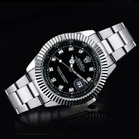 Rolex Fashion Casual Men's Submariner 5ct Diamond Stainless Steel 40mm - Pre-Owned