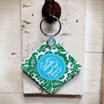 Personalized Key Chain NEW PATTERNS & COLORS by rrpage on Etsy