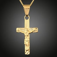Jesus cross couple pendant necklace jewelry chain = 1929681476