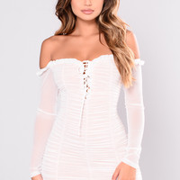 Maura Mesh Dress - White