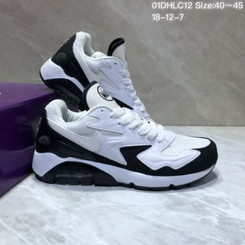 KUYOU N861 Nike Air Max 2 Light New Cushion Casual Running Shoes White Black