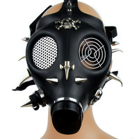 Spike Skull and Cross Full Gas Mask Gothic Techno Halloween Cosplay Anime Punk