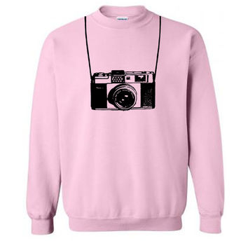 Vintage Camera Sweater Flex Fleece Pullover Classic Sweatshirt - S M L XL and XXL (15 Color Options)