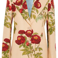 Gucci - Floral-print wool and mohair-blend blazer