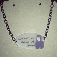 Beetlejuice Lydia Deetz Quote necklace
