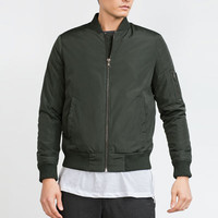 BOMBER JACKET WITH QUILTED LINING