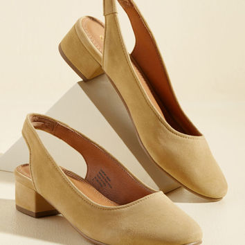 Electric Suede Heel in Mustard