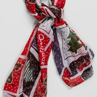 Holiday Stamps Scarf