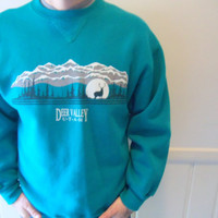 Vintage Deer Valley Utah Sweatshirt 1980s