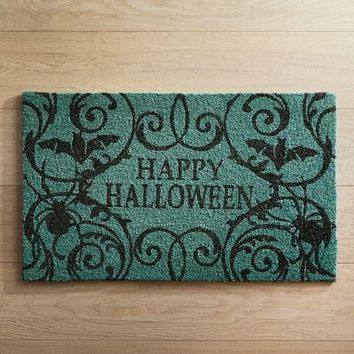 Happy Halloween Teal Doormat