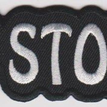 Get Stoned Iron-On Patch White Letters Logo