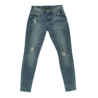 Lucky Brand Womens Distressed Low-Rise Skinny Jeans