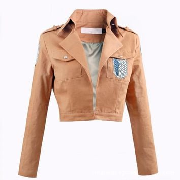 Cool Attack on Titan Anime  Cosplay Jacket Japanese Anime Brown Coat Women Man Adults AT_90_11