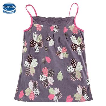 novatx N6226 Nova kids wear children printed floral girl t shirts hot sell new design high quality children clothes