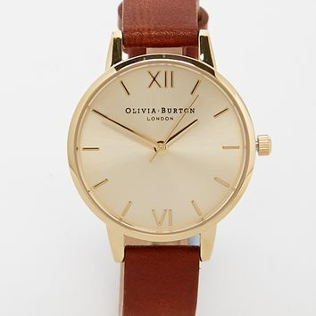 Olivia Burton Tan Midi Dial Watch