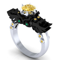 Incredible Gothic Owl Ring Steam Punk