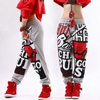 womens sweatpants New fashion Adult pants joggers star Pattern Costumes Grey har