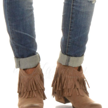 THE MADDOX BOOTIE IN TAUPE