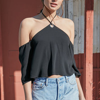 Kendall and Kylie Cold Shoulder Necktie Crop Top at PacSun.com