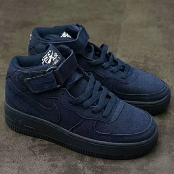 Nike Air Force 1 Mid '07  Trending Running Sport Fashion Casual High Tops Sneakers Shoes  Sapphire G-XYXY-FTQ