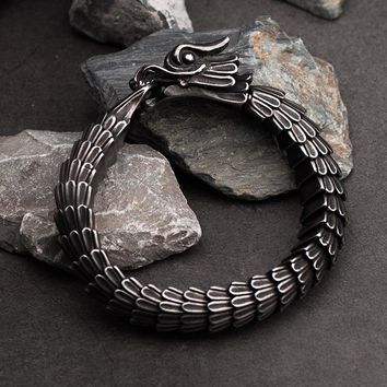 Dragon Ouroboros Stainless Steel Bracelet