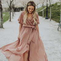 Cherry Blossom Dress in Dusty Pink