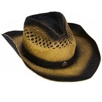 New Woven Cowboy Cowgirl Dual-Tone Dark Roll Up Hat