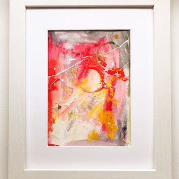 015 Original Abstract  Art on Paper. Free-shipping within USA.